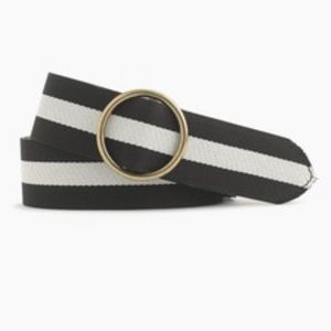 JCrew Navy Leather Belt